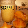 """STARFRUIT (officially called Carambola) - Called that because the fruit has ridges running down its sides (usually 5); in cross-section, so when you cut it horizontally, it comes out in the shape of a """"star"""".<br /> <br /> The entire fruit is edible, including the slightly waxy skin, unlike other tropical fruits. The flesh is slightly crunchy, semi-firm, and extremely juicy, with a texture kinda-sorta in consistency to that of a thicker grape.<br /> <br /> WHEN BEST TO EAT THEM: Starfruit are ripe when they are yellow with brown ridges (though they're quite tart/acido then). Don't want it as tart/acido? Wait till they looking old - with some brown spots & a bit shrively. You can also buy star fruit when it's green & wait for it to ripen - just leave it on your counter (in its plastic wrapping) for a few days.<br /> <br /> I can't say I've ever tried anything like this but it's been likened to a mix of apple, pear, & citrus family fruits all at once. Unripe starfruits are firmer & sour, & taste like green apples.<br /> <br /> Jasona shared a FABULOUS, EASY, FRESH recipe for something to do with Starfruit!! Just put it in the blender & add a little ice, water & honey (to taste) - REFRESHING!!!<br /> <br /> HEALTH PROPERTIES: Starfruit is a good source of Vitamin C, hence can help ward off winter colds & flus. It has only 30 calories per fruit plus lots of fiber making it a great choice for one losing weight. They're also very healthy - full of antioxidants and flavonoids & low in sugar, sodium & acid. It is also a potent source of both primary & secondary polyphenolic antioxidants. It has both antioxidant & antimicrobial activities.<br /> <br /> WARNINGS: Starfruit contains oxalic acid, which can be harmful to individuals suffering from kidney failure, kidney stones, or those under kidney dialysis treatment. Consumption by those with kidney failure can produce hiccups, vomiting, nausea, & mental confusion.<br /> <br /> DRUG INTERACTIONS: Like the grapefruit, Starfruit """