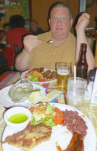 #6 - Casado con Pescado•Fish with LOTS & LOTS & LOTS of Garlic•Ajo (the green stuff is the garlic) & Ceviche