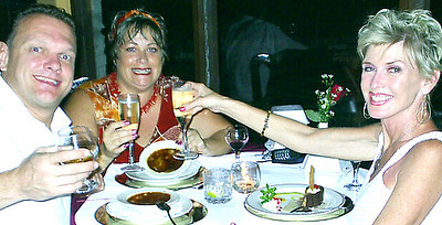 2 of my FAV things in the world - Creme Brulee & Champagne•Sparkling Wine - at Le Monestere - Escazu, Costa Rica