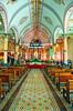 Interior of the San Rafael church in Zacero, Costa Rica, Central America.