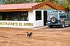 Street scenes in the village of El Dos de Tillaram in Costa Rica, Central America.