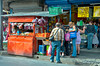 A small kiosk in the market in downtown San Jose, Costa Rica, Central America.