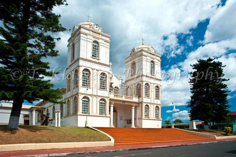 The Catholic church in the village of Sarchi, Costa Rica, Central America.