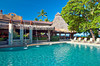 The pool area at the Tamarindo Diria Hotel and Golf Resort, Guanacaste, Costa Rica, Central America.