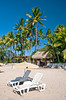 The sandy beach at the Tamarindo Diria Hotel and Golf Resort, Guanacaste, Costa Rica, Central America.