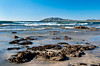 Shoreline with waves of the Pacific Ocean at Tamarindo, Costa Rica, Central America.