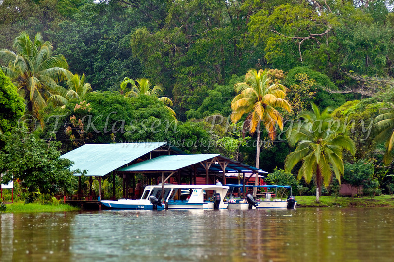 A remote jungle camp and home near Tortuguero National Park, Costa Rica, Central America.