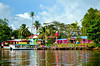 The village of Tortuguero from the canal, Costa Rica, Central America.