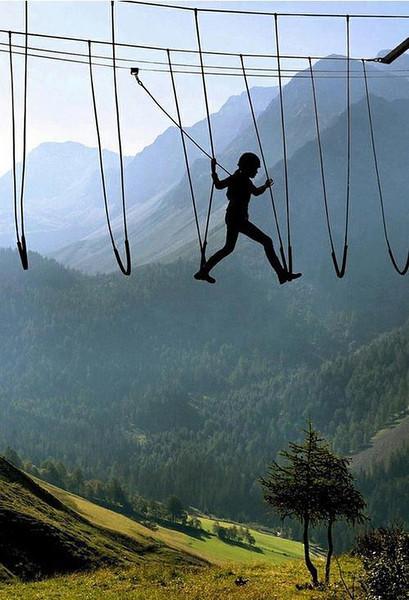 Sky Walking, The Alps, Switzerland