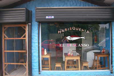 I hear this is quite a tasty & MEGA CHEAP TINY seafood restaurant up near me in San Antonio de Escazu.  Details coming soon!