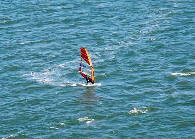 Windsurfer near the Golden Gate Bridge