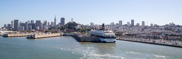 View of downtown San Francisco from the Grand Princess