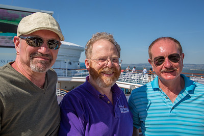 Patrick, Geoffrey, and Sidney at Sail Away