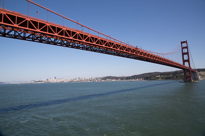 Looking back toward the City from under the Golden Gate Bridge.