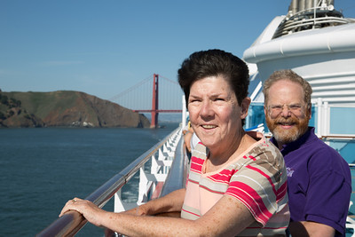 Mary Pat and Geoffrey just outside the Golden Gate.