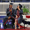 Lynn, Ma. 6-1-16. Daniel Donator and Damaris Reyes sing a duet at the high school graduation exercises at Lynn Vocational Technical Institute.