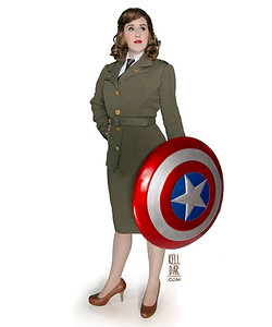 My Peggy Carter costume, made for Dragoncon 2014. Photo shot on a white backdrop by Chasing Photography.Kelldar.com | My Facebook Page | Tumblr | Instagram
