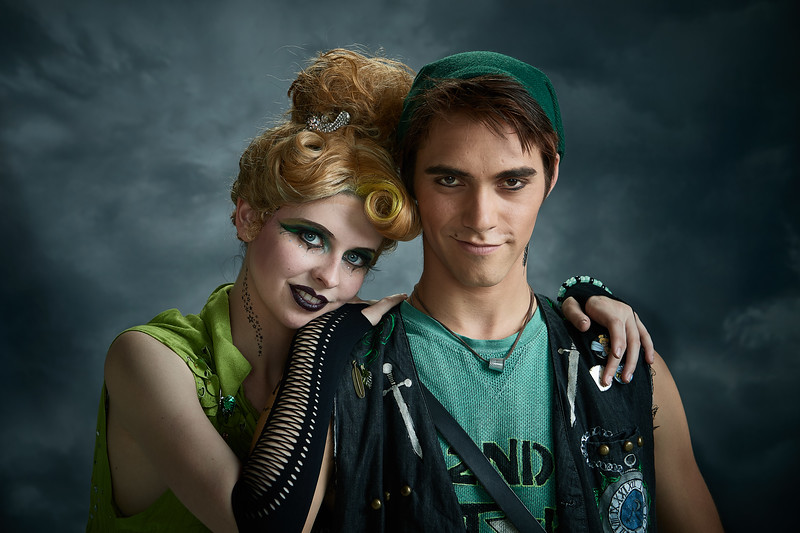 Peter Pan / Tomorrowland. Caroline Kinnamore styled by Allison Lowery. J. Dylan Gibson styled by Allison Lowery.