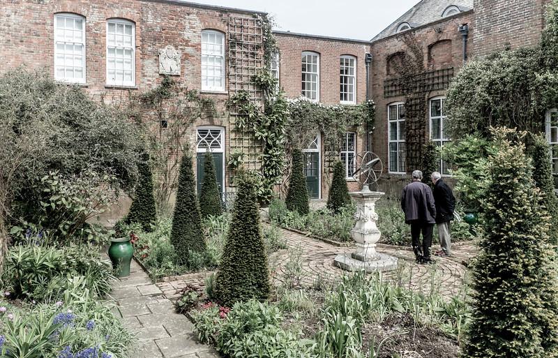 View, The Dutch Garden, Cottesbrooke Hall, Northamptonshire
