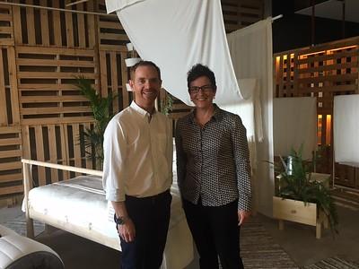 Brooke Summers (Cotton Australia) and IKEA Sustainability Manager Richard Wilson, 21.7.16