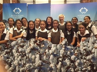 Sydney Royal Easter Show - Australian Cotton photo booth with students and teachers