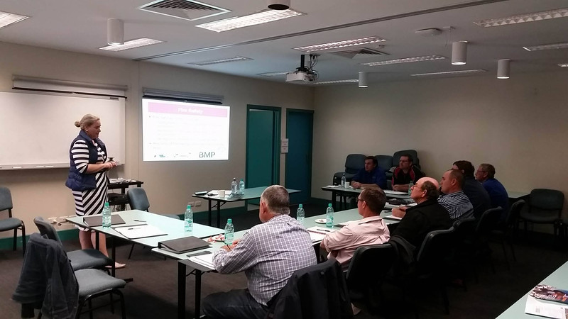 Cotton Australia regional managers Rebecca Fing and Renee Anderson hosted workplace health and safety (WHS) training for growers in Emerald on 21.06.16.