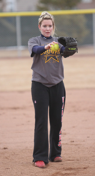 Softball practice on a cold Friday