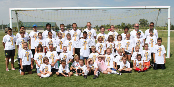 Soccer camp group photos