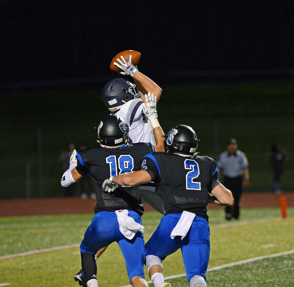 Fred Germana (19) caught four passes for 48 yards.