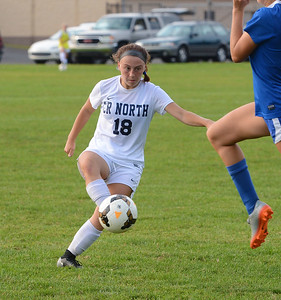 Kaleigh O'Donnell (18) scored for CR North.