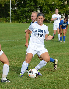 Riley Sheehy (13) controls the ball for Council Rock North.