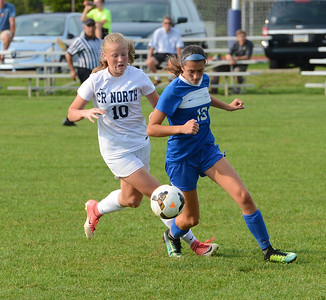 Paige Addis (10) scored two goals for North in 3-2 win over Bensalem.