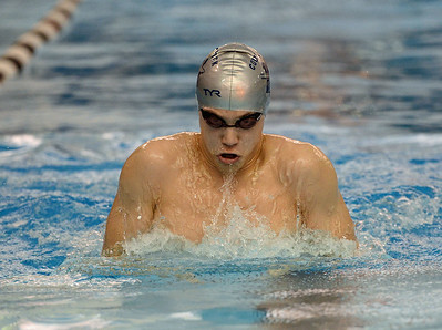 Drake Bayard swims the breaststroke.