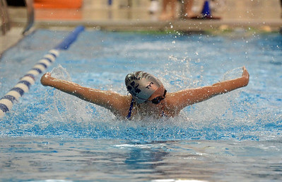 Halle Johnson swims the butterfly.