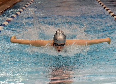 Emily Duckworth swims the butterfly.