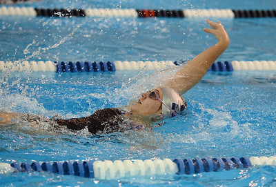 Eva Wojnovich swims in the 200 backstroke.