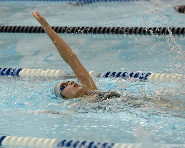 Caroline Erlandson reaches out in backstroke.
