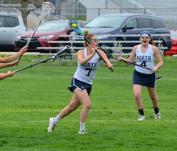 Anna Lehman (7) takes aim at goal.