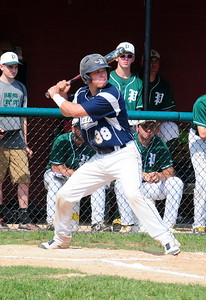 Council Rock North catcher Matt Shram takes his at-bats in the District 1-AAAA Championship game won by Pennridge, 3-1, June 2 at Methacton High School's Robert Morris Childress Field.