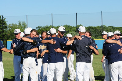 Council Rock North players embrace after PIAA quarterfinal battle loss to Marple-Newtown June 9 at Immaculata University. The Indians finished at 21-5 and among the top eight teams in the state for the second consecutive season.