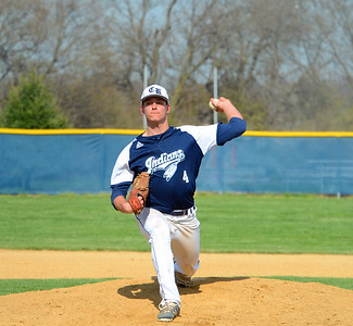 Council Rock North junior lefthander Eric Hoefer (4) went the distance and got the win over sister school CR South April 6 in Newtown. (John Gleeson – 21st-Century Media)