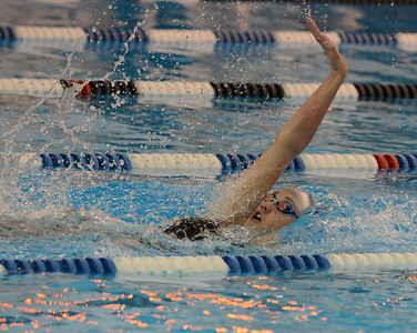 North's Ellie Brandbergh swims to victory in the 100 backstroke.