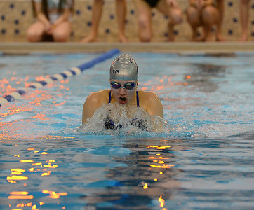 North's Jackie Rounsavill won the 100 breaststroke.