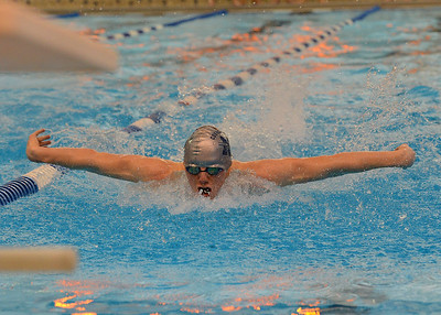 North's Ryan Lawlor won the 100 butterfly.