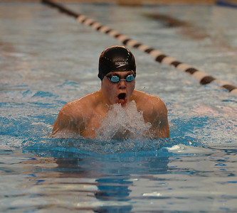 Ryan Williams swims the 100 breaststroke for South.