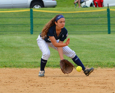 Shortstop Juliana Shields (4) helped record 11 ground ball outs by Council Rock North.