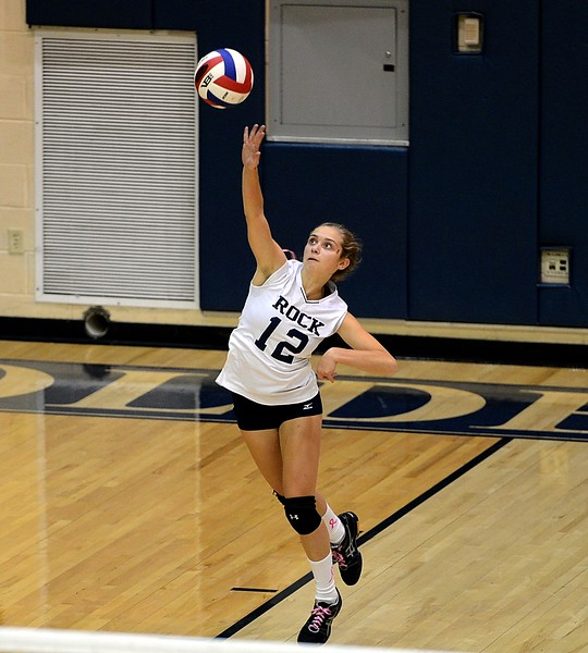 Hannah Devlin (12) serves for Council Rock South.