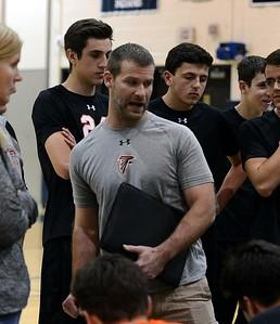 Pennsbury coach Justin Fee advises the Falcons.