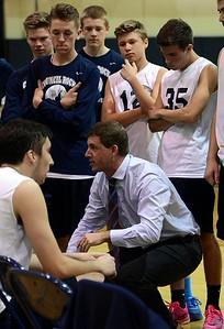 Coach Greg Marchetti advises his Council Rock North team.