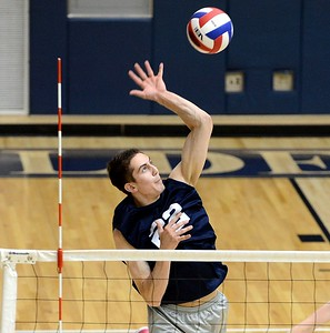 CR North senior Will Desautelle (#22) recorded seven kills for the Indians.